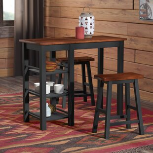 Bunch 3 Piece Counter Height Dining Set by Loon Peak 2019 Coupon