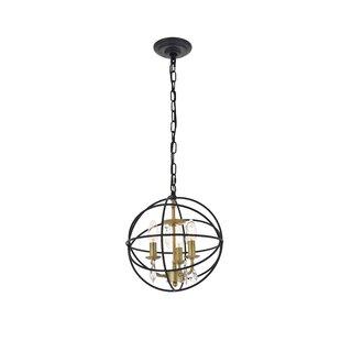 Mayo 3-Light Globe Pendant by House of Hampton