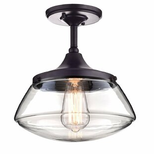 1-Light Semi Flush Mount b..