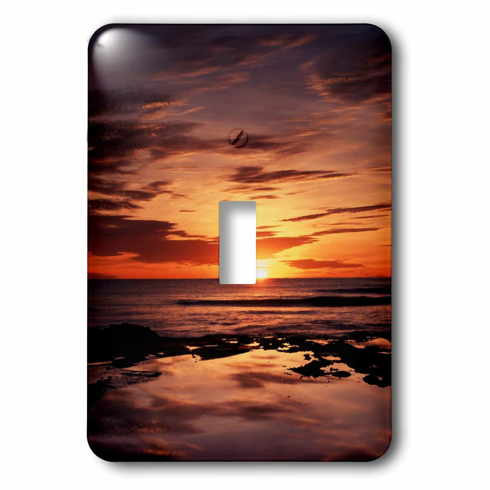3drose California San Diego Sunset 1 Gang Toggle Light Switch Wall Plate Wayfair