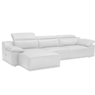 Bellini Modern Living Isabella Leather Reversible Sectional