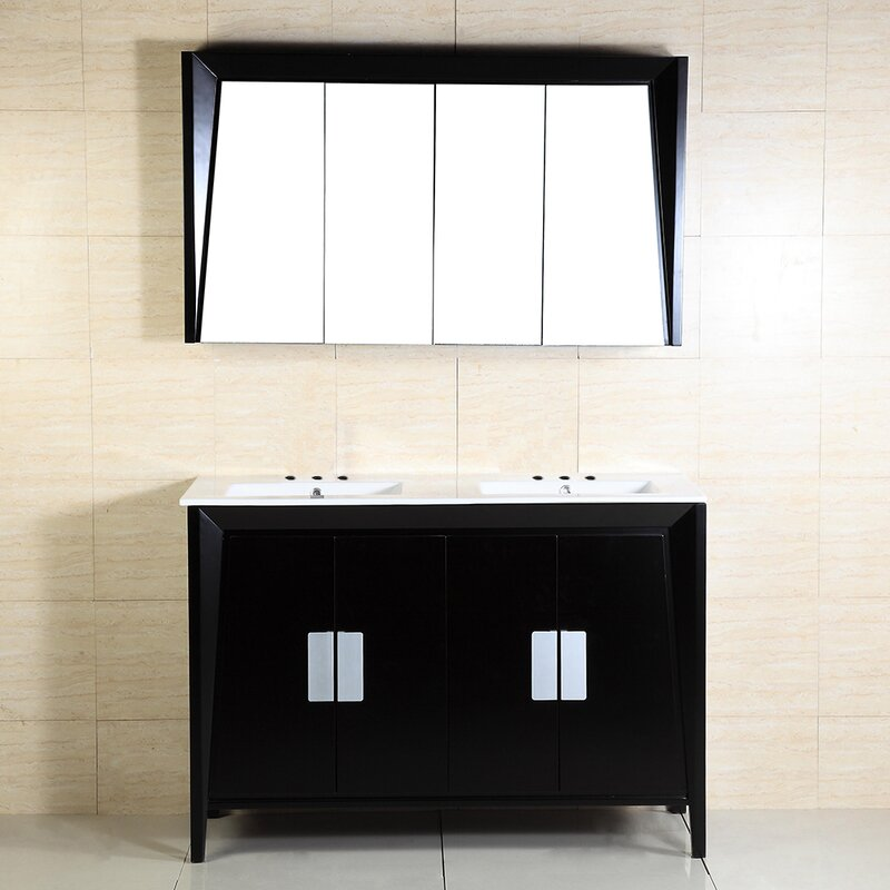 Bellaterra Home 48 Double Sink Vanity Wayfair