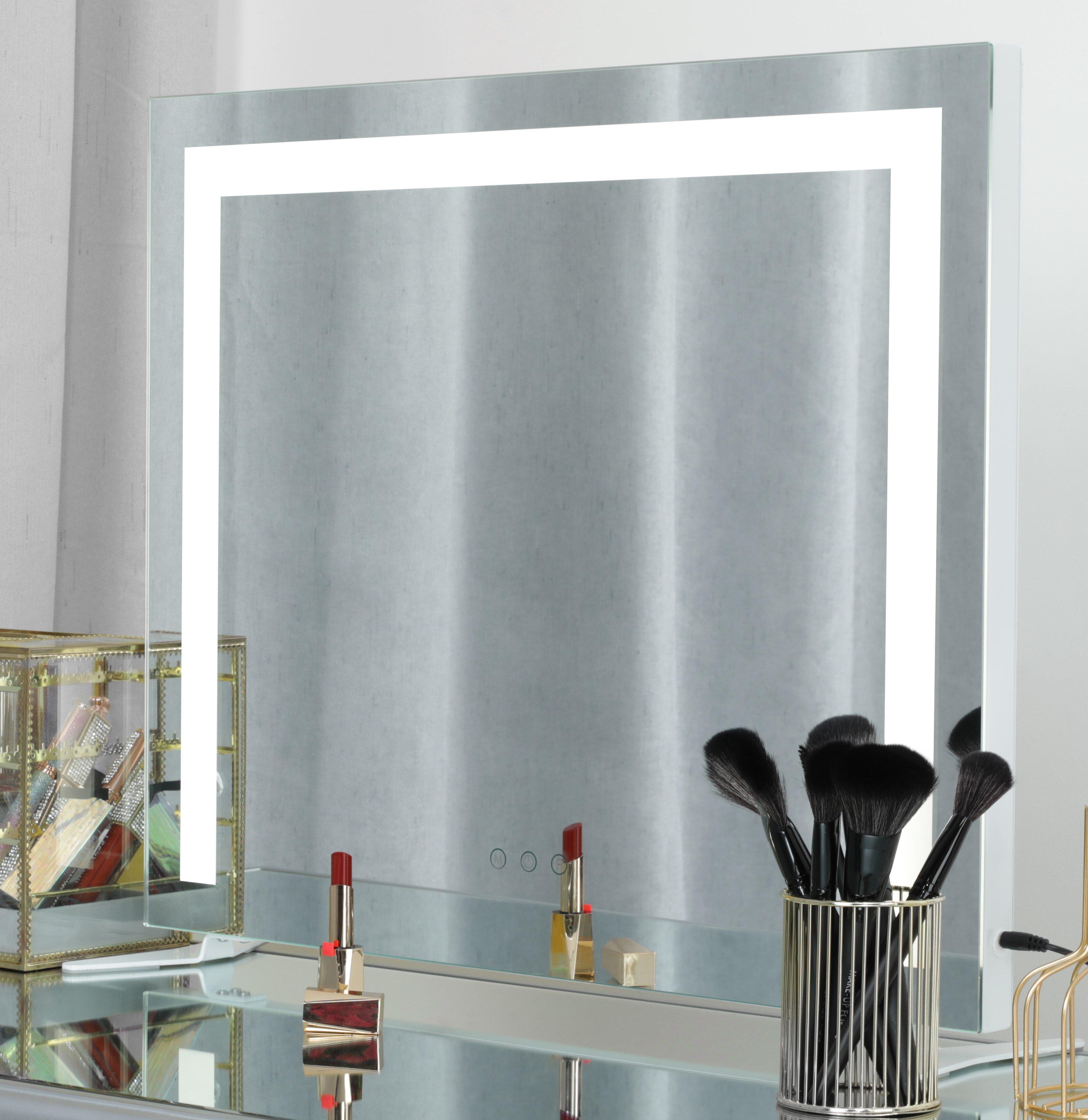 Latitude Run Azeemah Large Hollywood Lighted Vanity Mirror Wayfair