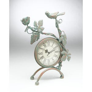 Bird and Grapevine Tabletop Clock