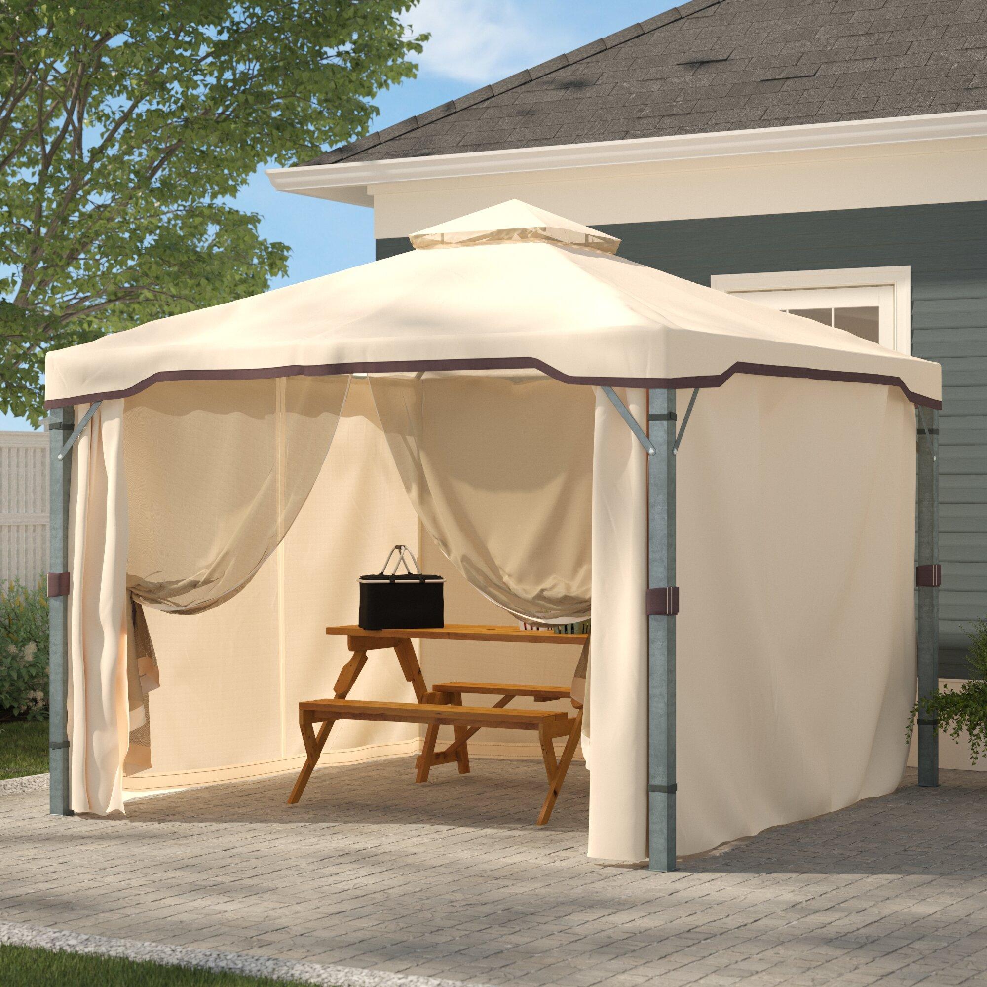 Gazebos Sold Individually Outdoor Patio 98 Length Mosquito Netting Curtain Panel Garden Patio Omnitel Com Na