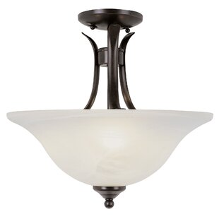 Lansford 2-Light Semi Flush Mount by Alcott Hill