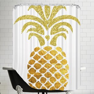 Ikonolexi Pineapple 4 Single Shower Curtain