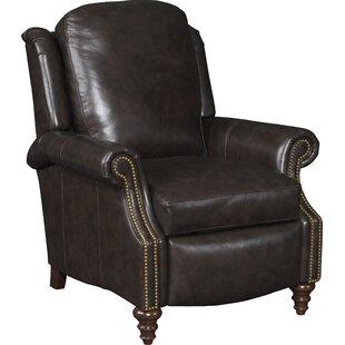 Read Reviews Hobson 3-Way Leather Manual Chair by Bradington-Young