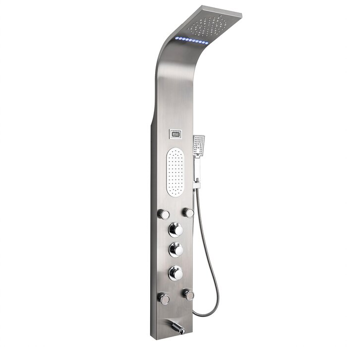 Genial Rainfall Mist Stainless Steel Multi Function Pressure Balanced Thermostatic  Fixed Shower Head Shower Panel