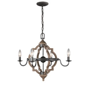 Laurel Foundry Modern Farmhouse Donna 4-Light Candle Style Chandelier