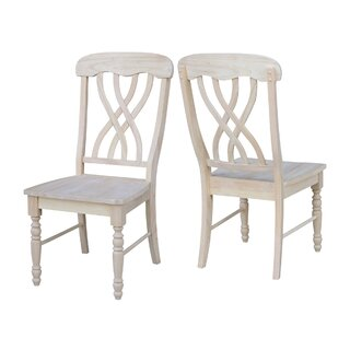 Anselme Solid Wood Dining Chair (Set of 2) by August Grove SKU:CE943512 Purchase