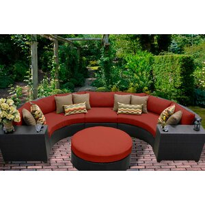 Barbados 6 Piece Sectional Seating Group with Cushion