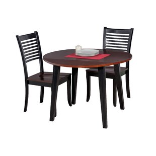 Dinh 3 Piece Drop Leaf Solid Wood Dining Set by Latitude Run Amazing