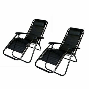 Freeport Park Kaylin Reclining Zero Gravity Chair with Cushion (Set of 2)