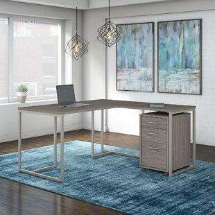 Kathy Ireland Office by Bush Method 2 Piece L-Shaped Desk Office Suite