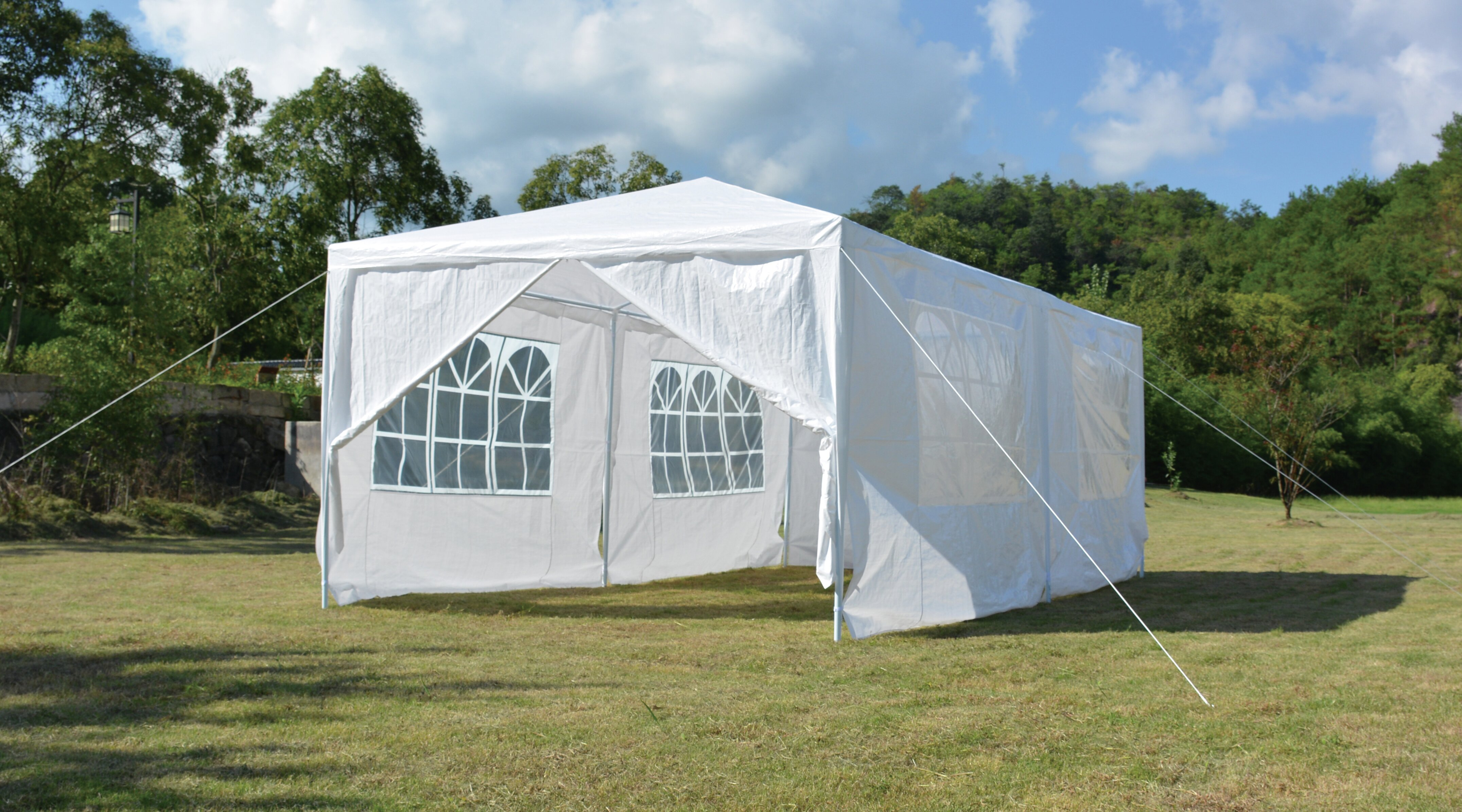 Backyard Expressions 20 Ft W X 10 Ft D Steel Party Tent Reviews Wayfair
