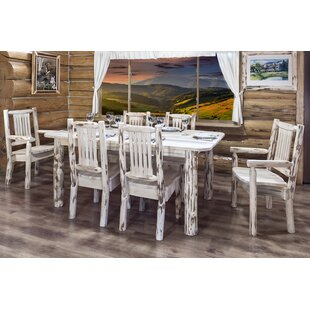 Buy clear Abordale 4 Post Solid Wood Dining Table By Loon Peak