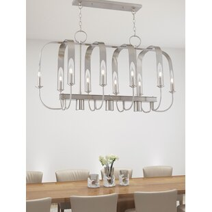 Latitude Run Lawrence Linear 10-Light Kitchen Island Pendant