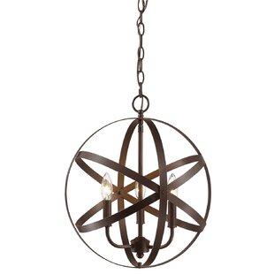 Wrought Studio Emmaline 3-Light Globe Chandelier
