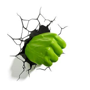 3D Light FX 3D Hulk's Right Fist Deco 2-Light Night Light