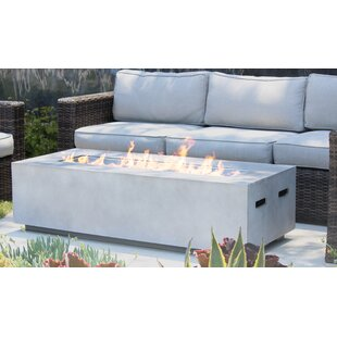Santiago Concrete Propane Gas Fire Pit Table