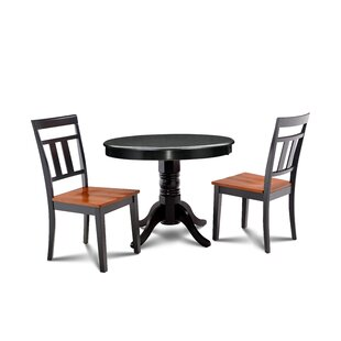 Llewellyn 3 Piece Solid Wood Dining Set