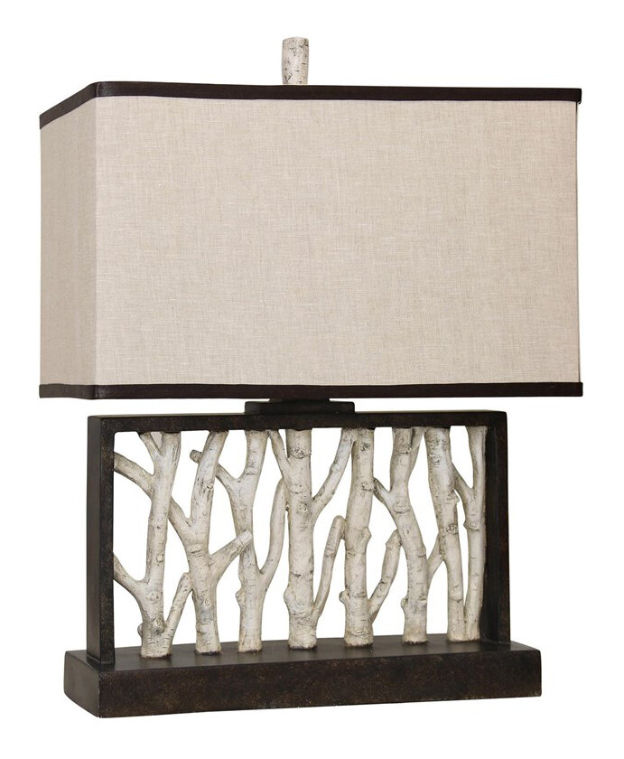 Mossy Oak Nativ Living Faux Birch Tree Branch 25 Table Lamp