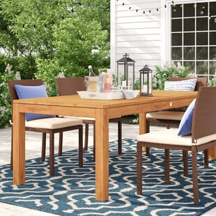 Brighton Wood Dining Table by Sol 72 Outdoor