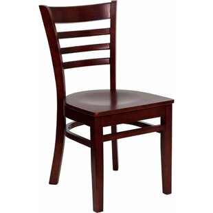 Duprey Solid Wood Dining Chair With Ladder Back by Charlton Home Best