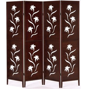 178cm x 175cm Screen with Flower 4 Panel Room Divider