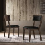 Kelston Mills Upholstered Side Chair in Black (Set of 2) by Canora Grey