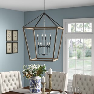 Natarsha 8-Light Lantern Chandelier by Bi..