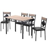 Alaizha 5 - Piece Dining Set by Red Barrel Studio®