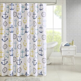 Kerrigan Nautical Printed Single Shower Curtain
