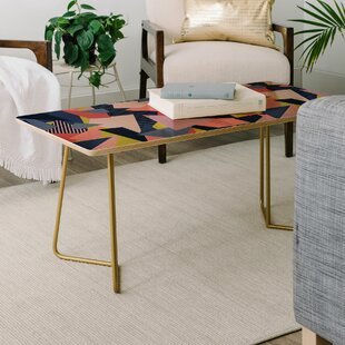 East Urban Home Mareike Boehmer Color Blocking Chaos Coffee Table