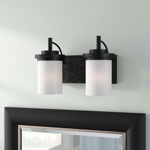 Dashiell 2-Light Glass Shade Vanity Light by Three Posts