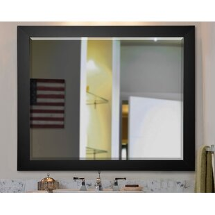 Great Price Black Satin Wide Wall Mirror By Brayden Studio