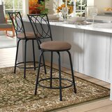 Schauer Swivel Adjustable Height Bar Stool by Winston Porter