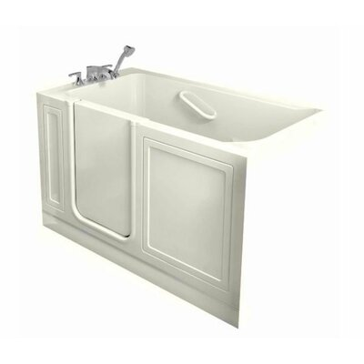 Acrylic 51 x 30 Walk-In Combo Massage Air/Whirlpool Bathtub American Standard Drain Location: Right, Color: Linen