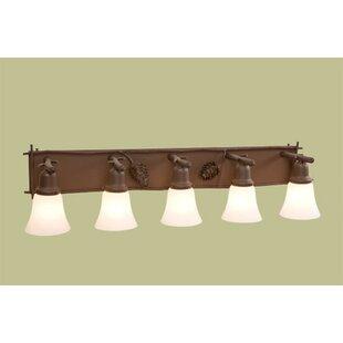 Steel Partners Ponderosa Pine Glacier 5-Light Vanity Light