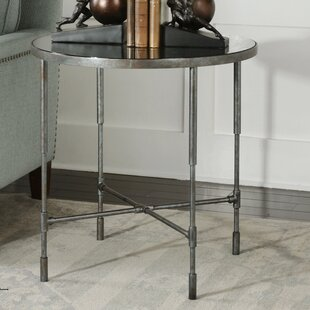 Constance Aged Steel End Table by 17 Stor..