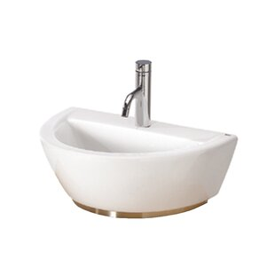 Bissonnet Universal U-Shaped Vessel Bathroom Sink with Overflow