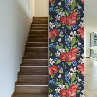 Emma Removable 10' x 20 Floral Wallpaper by Walls Need Love