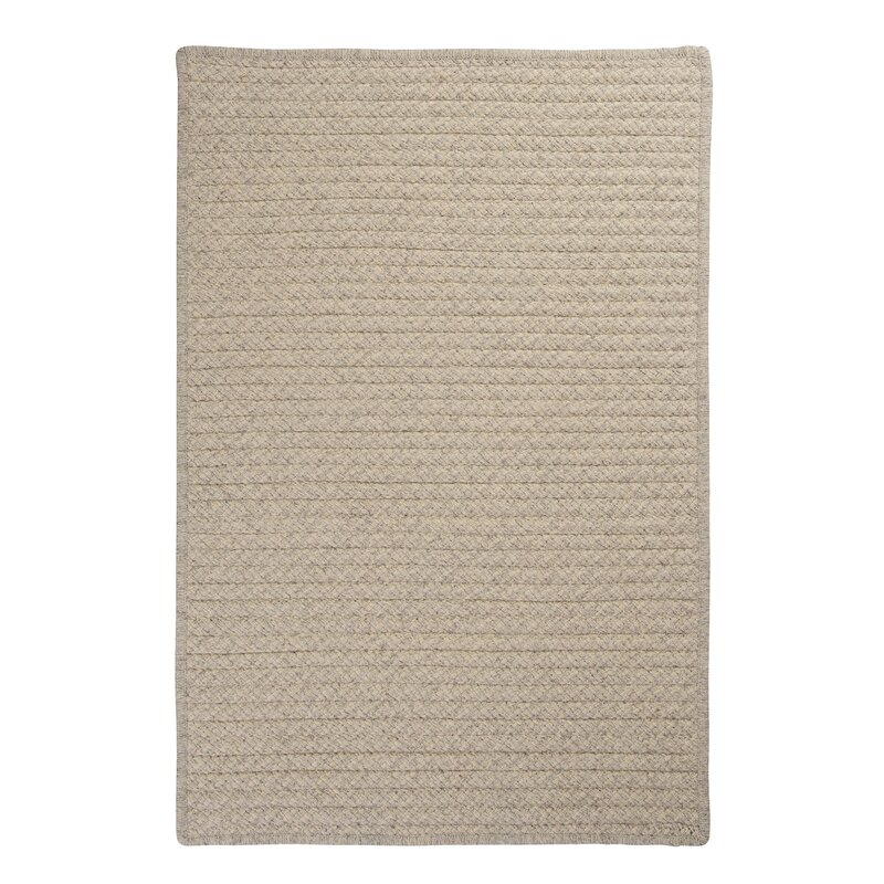 Colonial Mills Natural Wool Houndstooth Braided Cream Area