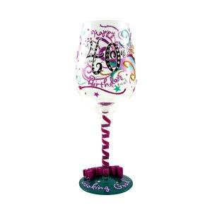 40-ish Birthday Wine Glass