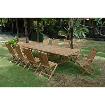 Bourg 11 Piece Teak Dining Set by Freeport Park Purchase