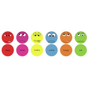 Emotions English Kids Floor Cushion (Set of 6) by KaloKids