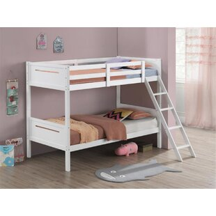 Walcott Twin Over Twin Bunk Bed with Mattress by Harriet Bee