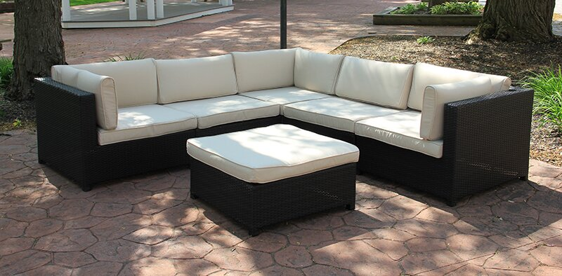 Outdoor Furniture Sectional Sofa Set with Cushions : sectional sofa set - Sectionals, Sofas & Couches