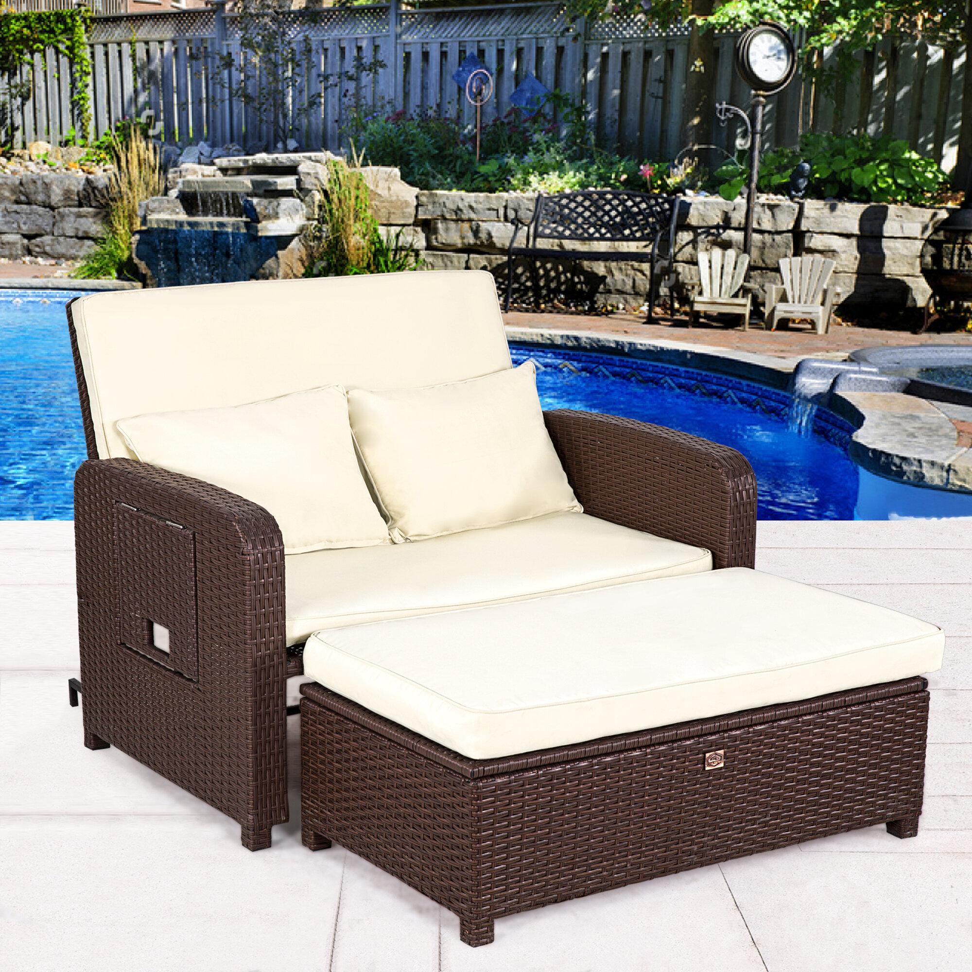 Watch Bayou Breeze Kohn Patio Sofa with Cushions video